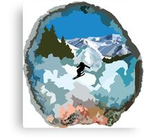 The Secret Lives of Geodes: The Skier  Canvas Print