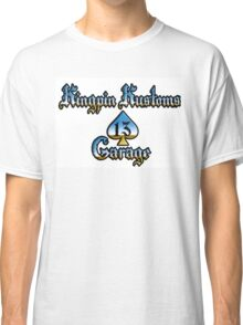 Kingpin Kustoms Garage chrome design Classic T-Shirt