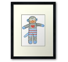 Sock Monkey Framed Print
