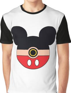 Mickey Mouse Pokemon Ball Mash-up Graphic T-Shirt
