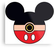 Mickey Mouse Pokemon Ball Mash-up Metal Print