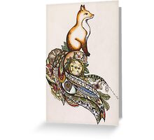 Fox on a journey  Greeting Card