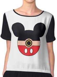 Mickey Mouse Pokemon Ball Mash-up Chiffon Top