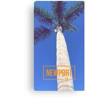 Newport Beach California Palm Tree Canvas Print