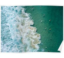 Surfers at Maroubra Beach Poster