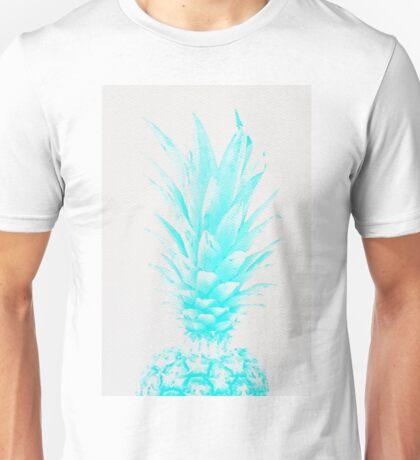 Blue Pineapple Xerox Watercolor Unisex T-Shirt