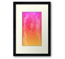 Sunset Polygons Framed Print