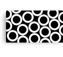 Black - White Rings Canvas Print