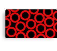 Black - Red Rings Canvas Print