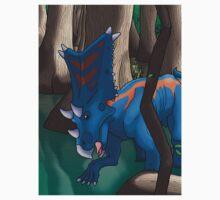 Dinosaur Swamp - Chasmosaurus One Piece - Short Sleeve