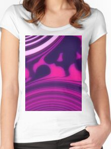 Sunrise - Pink Purple Women's Fitted Scoop T-Shirt