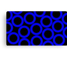 Black - Blue Rings Canvas Print