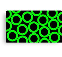Black - Green Rings Canvas Print
