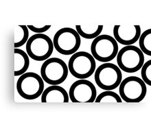 White - Black Rings Canvas Print