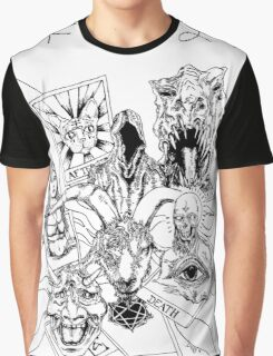 tarot card booster pack - black and white Graphic T-Shirt