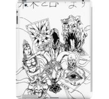 tarot card booster pack - black and white iPad Case/Skin