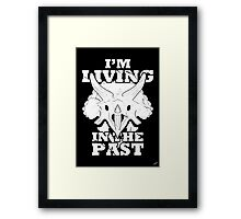 Living in the Past with Triceratops Framed Print