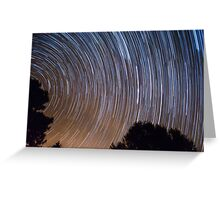stars and trees Greeting Card