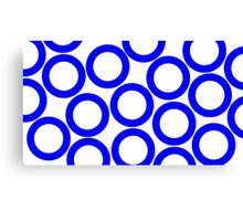 White - Blue Rings Canvas Print