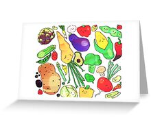 veggies Greeting Card