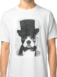 Cute Vintage Dog Wearing Glasses Classic T-Shirt