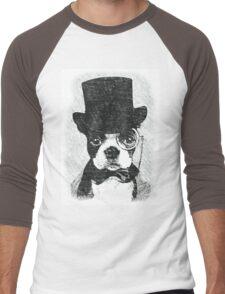 Cute Vintage Dog Wearing Glasses Men's Baseball ¾ T-Shirt