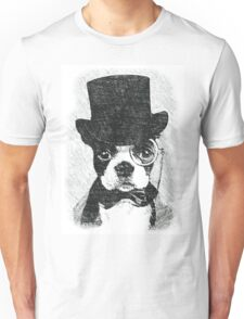Cute Vintage Dog Wearing Glasses Unisex T-Shirt