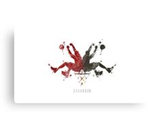 Heat Rorshaq Canvas Print