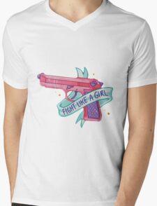 FIGHT LIKE A GIRL VOL. 1  Mens V-Neck T-Shirt