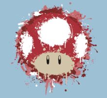 Splash Paint Super Mario Mushroom Kids Clothes