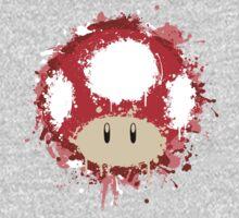 Splash Paint Super Mario Mushroom Kids Clothes