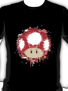 Splash Paint Super Mario Mushroom T-Shirt