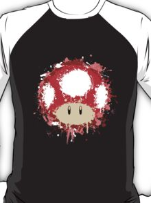 Splash Paint Super Mario Mushroom T-Shirt