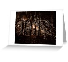 sparks in the woods Greeting Card