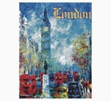"""LONDON ABSTRACT"" Travel and Tourism Print One Piece - Long Sleeve"