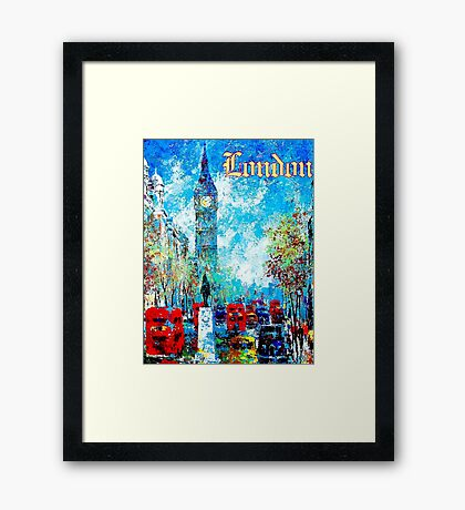 """""""LONDON ABSTRACT"""" Travel and Tourism Print Framed Print"""