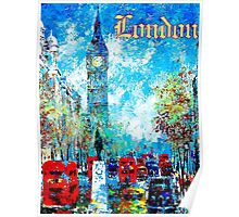 """""""LONDON ABSTRACT"""" Travel and Tourism Print Poster"""