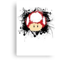Abstract Super Mario Mushroom Canvas Print
