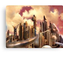 Galactic Metropolis  Canvas Print