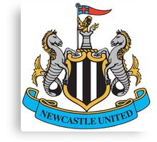 Newcastle United Badge Canvas Print