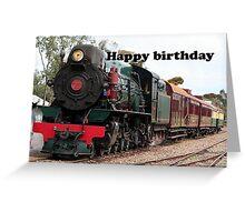 Happy Birthday Steam Train Locomotive 1 Greeting Card