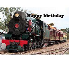 Happy Birthday Steam Train Locomotive 1 Photographic Print
