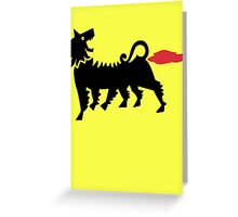 Farting Dog !!! (vulgar display of power) Greeting Card