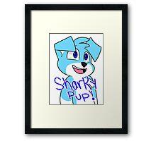 SharkyPup Kipper Framed Print