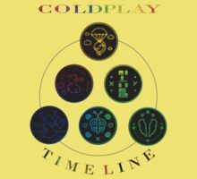 Coldplay Timeline One Piece - Short Sleeve