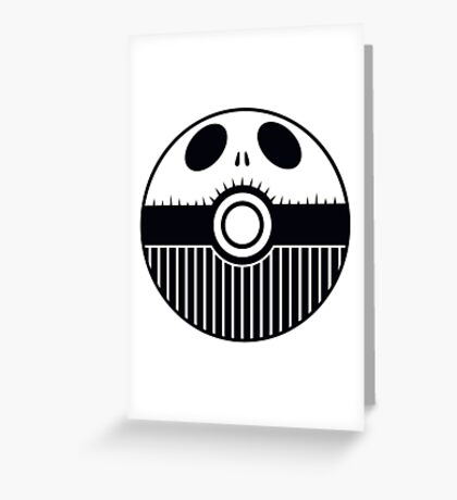 Jack Skellington Pokemon Ball Mash-up Greeting Card