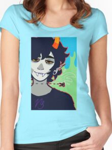 Smiling Clown Women's Fitted Scoop T-Shirt
