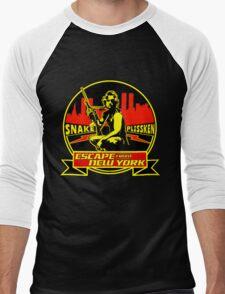 Snake Plissken (Escape from New York) Badge Colour Men's Baseball ¾ T-Shirt