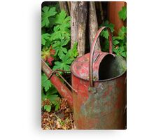 Antique watering can Canvas Print