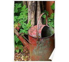 Antique watering can Poster